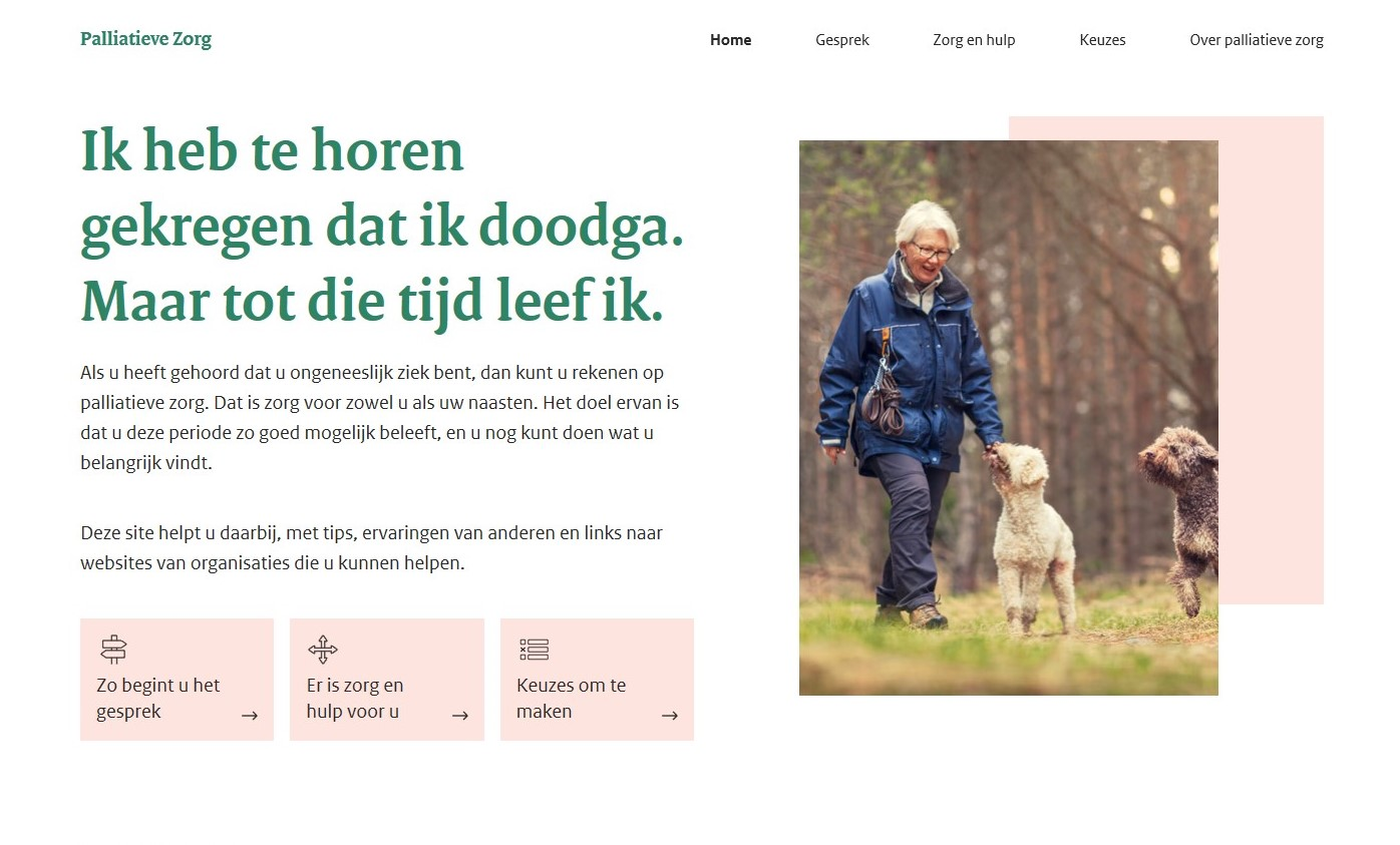 website over palliatieve zorg